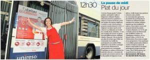 Cours cuisine Shadya dans La Tribune de Genève