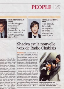 Shadya Animatrice Radio dans Le Matin Dimanche 2012