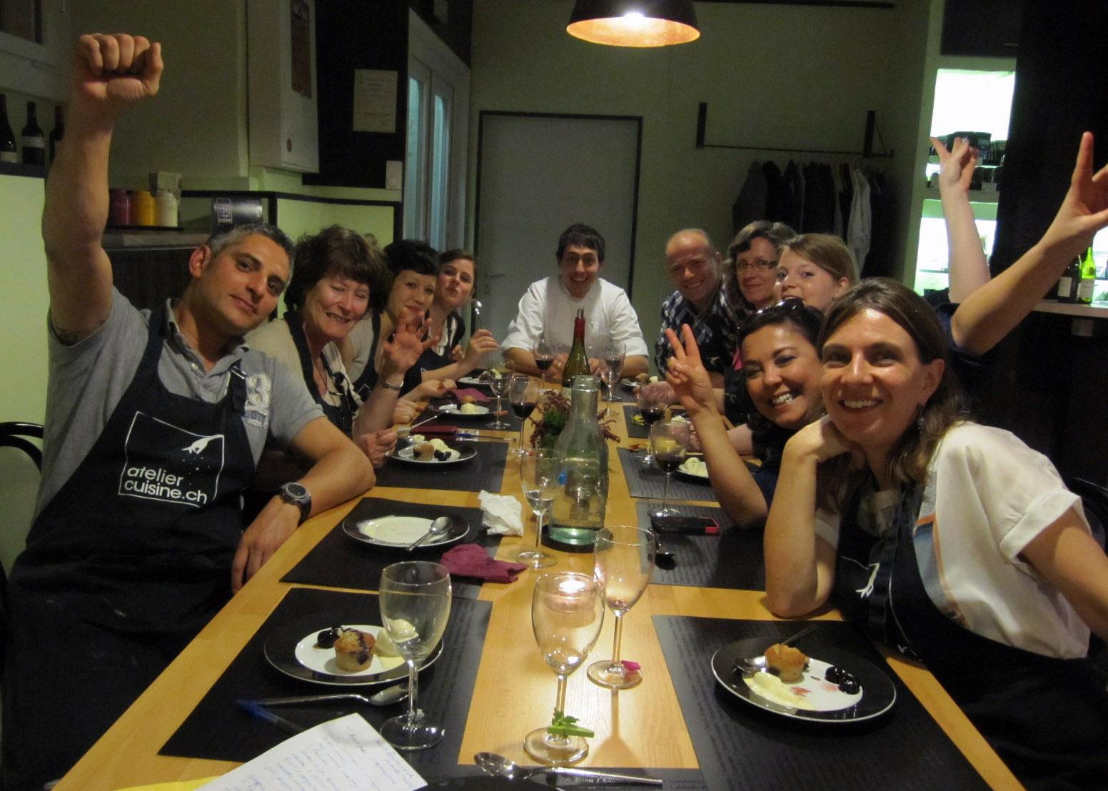 Un atelier de cuisine g nial les chefs mes h ros ma for Atelier cuisine lausanne