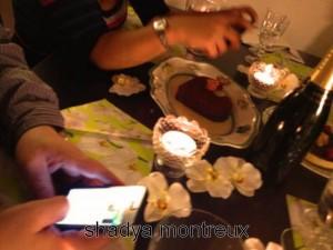 Les portables au dessert !