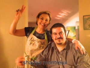 Shadya avec Damien Germanier