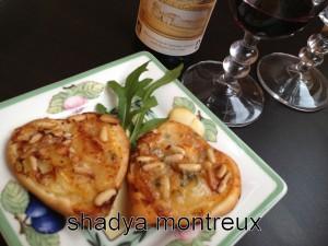Les minis pizzas coeur à la Pomme et Grogonzola de SHADYA