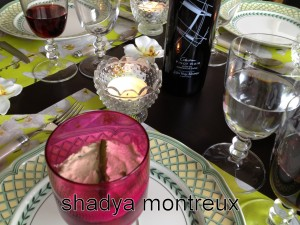 Ma mousse de basilic à table