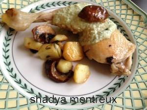Mes cuisses de poulet à la crème d'estragon