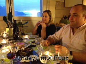 Pauline et Olivier Fahrni à table