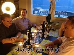 Une table animée avec Pierre Thomas, Gilles Vincent, Olivier et Pauline Fahrni