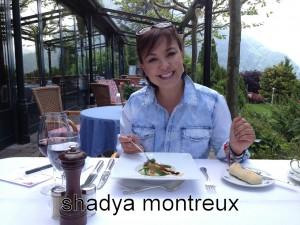Shadya sur la terrasse du Victoria, Glion