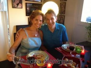 Le peintre Jacques Biolley et sa compagne Dominique