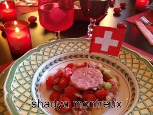 Salade Liberté et Patrie dans l'assiette