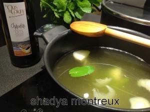 Mon bouillon à la menthe et vin blanc est le secret