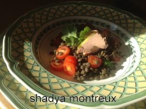 Mes lentilles vertes à la mousse de canard Robuchon