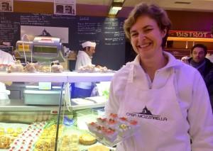 La souriante Stefania Braggiotti pâtissière de la Casa Mozzarella