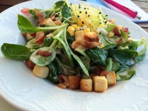 Salade de rampons gourmande