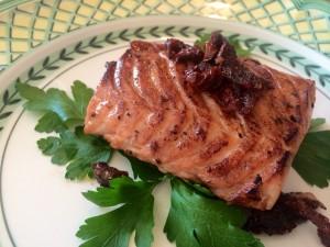 Un filet de saumon parfumé à la truffe