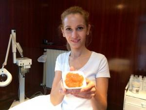 Brigitte me présente gommage au Gingembre Ecorces d'orange Cannelle