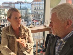 Yaël Bruigom avec Eric Lebel fondateur de Takinoa