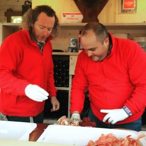 Giles et Olivier en pleine préparation