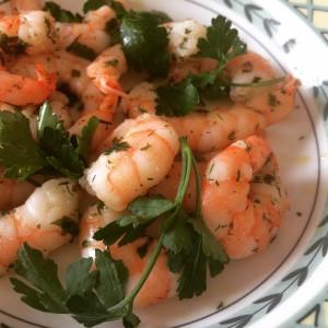 crevettes ail et persil pour les tagliatelle