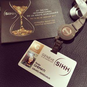 Mon badge pour le SIHH 2017