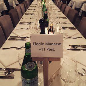 La table de la gagnante Elodie Manesse