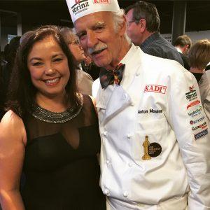 Shadya et le Chef étoilé Anton Mosimann