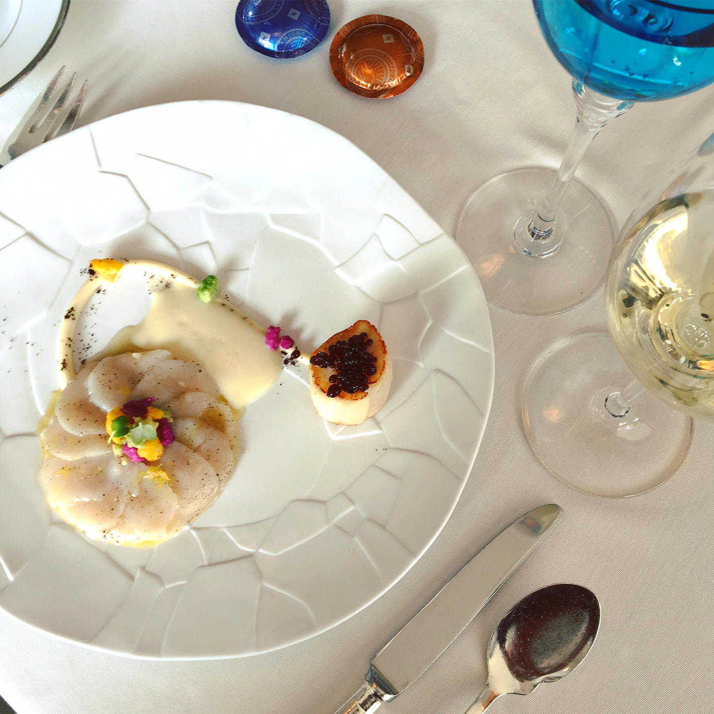 Noix de st jacques d erquy au caviar de caf par michel for Ma cuisine petit chef
